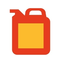 Tank container fuel icon vector