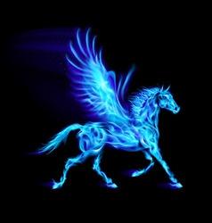 Fair Pegas Horse Run blue 01 vector image