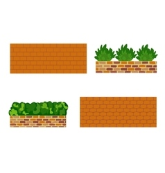 Various kinds of stone wall for garden vector