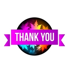 Sign thank you autumn leaves vector