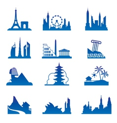World travel destinations vector
