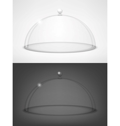 Glass transparent half-sphere vector image