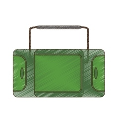 Drawing suitcase travel equipment vector