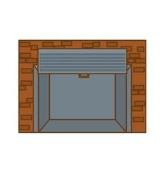 open garage door icon image vector image