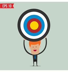 Business man showing target - - eps10 vector