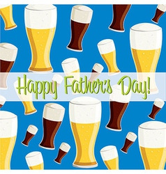 Beer theme fathers day card in format vector