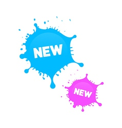 Pink and blue stickers - stains vector