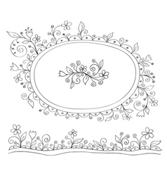 Doodle decor elements vector