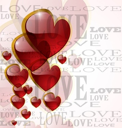 Abstract glossy heart on white vector image