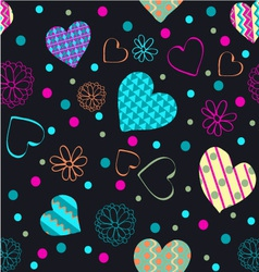 Hearts cheerful pattern romantic vector