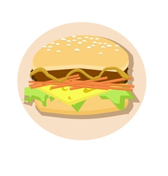 Cheeseburger vector