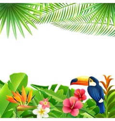 Tropical landscape background vector