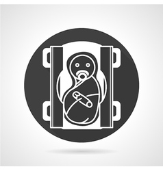Air purifier flat line icon vector