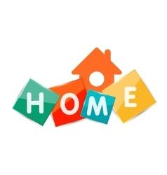 Home geometric banner design vector image