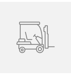 Forklift line icon vector