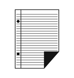 Lined paper of notebook simple icon vector image