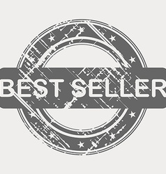 Best seller grunge rubber stamp vector