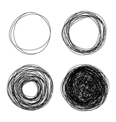 Pencil drawn circles vector
