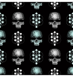 Seamless pattern skull vector