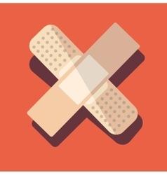 Medical plaster patch finger vector