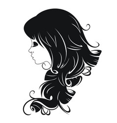 abstract portrait of a beautiful girl vector image