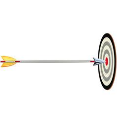 Arrow shot it hits a target vector