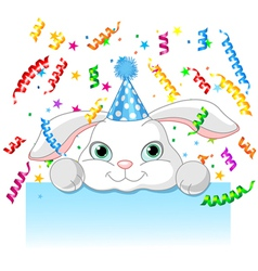 Bunny birthday vector image