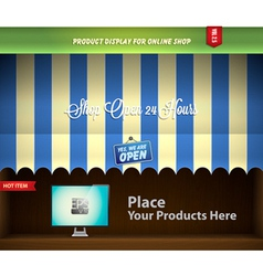 canopy product display vector image vector image