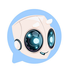 Chat bot cute in speech bubble icon concept of vector