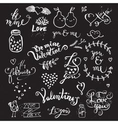 Cute hand drawn symbols of Love vector image vector image