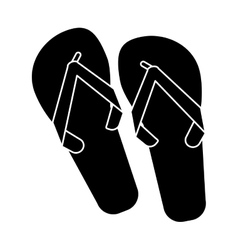 Flip flop brasilian pictogram vector