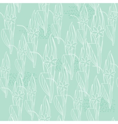 Floral light green seamless pattern vector image vector image