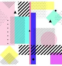 geometric elements memphis cards Retro vector image
