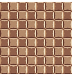 Geometrical pattern in brown vector image vector image