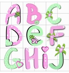 Girly letter vector