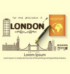 Hand drawn about london vector