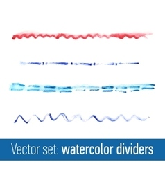 Hand drawn watercolor dividers for your design vector image