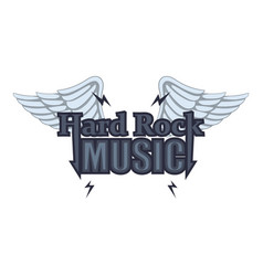 hard rock music icon cartoon style vector image