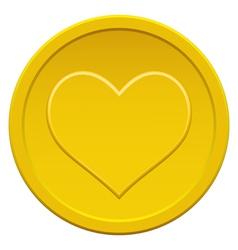 Heart coin vector image vector image