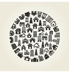 House a circle vector