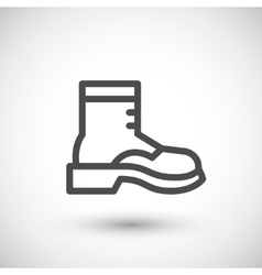 Industrial boot line icon vector image