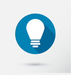 lightbulb icon in flat style vector image