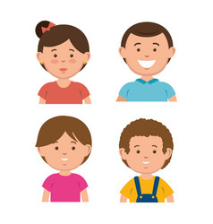 Little kids avatar characters vector