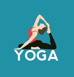 Logo for yoga studio vector image vector image