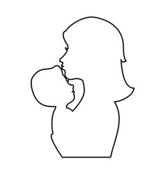 mother and baby icon vector image vector image