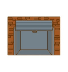 open garage door icon image vector image vector image