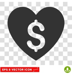 Paid love eps icon vector