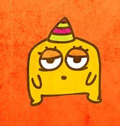 Party Alien Cartoon vector image