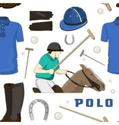 Polo objects Sport uniform pattern vector image vector image