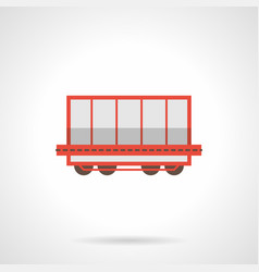 rail freight wagon flat color icon vector image vector image